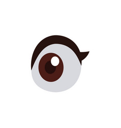 cartoon eye vision look optic icon vector image vector image