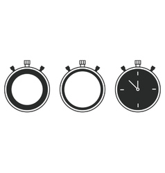 modern flat stopwatch icons set on white vector image