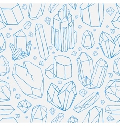seamless pattern Hand drawn crystals vector image vector image