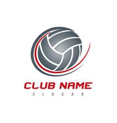 volleyball logo vector image
