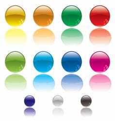 web circle button vector image vector image