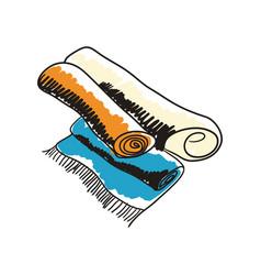 Arabian handmade carpet hand drawn icon vector