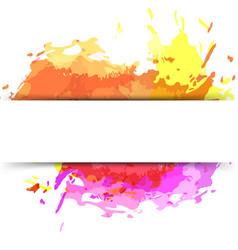 bright modern splatter paint background vector image