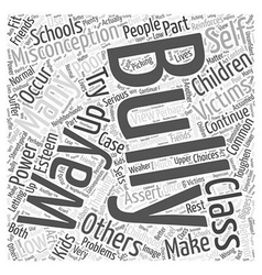 Common misconceptions about bullying word cloud vector