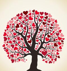 Love tree vector image