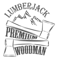 Lumberjack woodman logo and pictures vector image