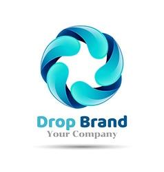Mineral natural water icon design Aqua drop logo vector image