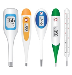electronic thermometers vector image vector image