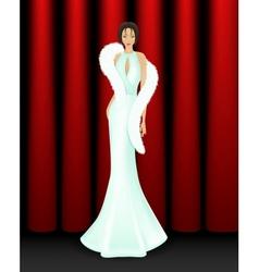 Elegant women on stage vector image vector image