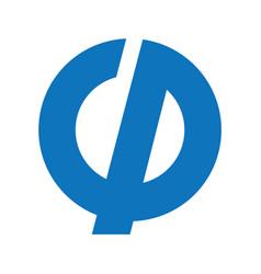 gp business or technology letter logo desig vector image vector image