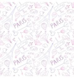 Paris Symbols Pattern vector image