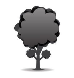 A stylized drawing of a tree Black-and-white vector image vector image