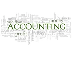 Accounting Word Cloud Bubble Tags Tree vector image vector image