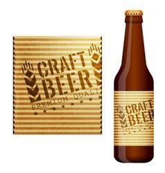 Design of beer label vector image vector image