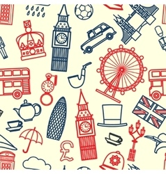 England seamless Pattern 1 vector image