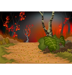 Forests fire vector image