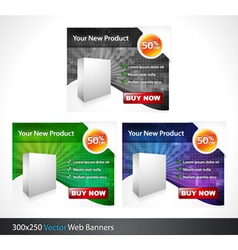 glossy banners set vector image vector image