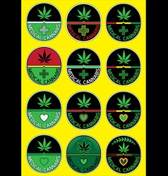medical cannabis leaf symbol design vector image