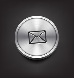 Metal Email Icon vector image vector image