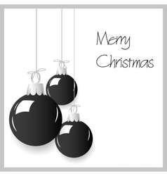 shiny black color christmas decoration baubles vector image vector image