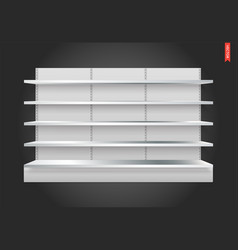 100 shelves long vector image