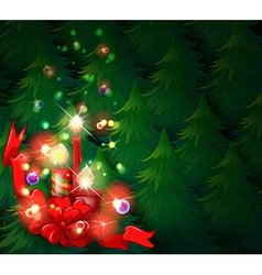 A christmas design with lighted candles vector