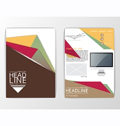 A4 Abstract Background design Business Brochure vector image