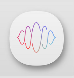 abstract soundwave app icon uiux user interface vector image