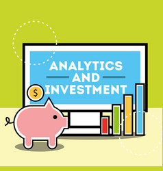 analytics and investment business vector image
