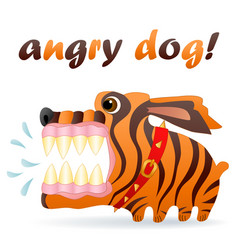 Angry dog cartoon character image vector