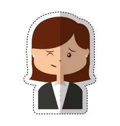 Angry person character icon vector