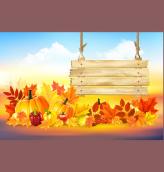 autumn colorful background happy thanksgiving vector image