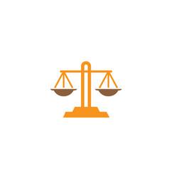 balance symbol scales logo design law symbol vector image