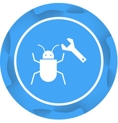 Beautiful debug glyph icon vector