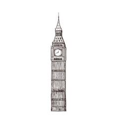 Big ben sight london vector
