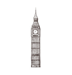 Big ben sight of london vector