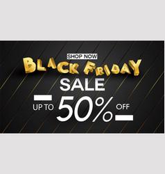 black friday sale banner layout design background vector image