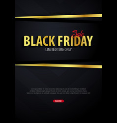 black friday sale poster or flyer discount vector image