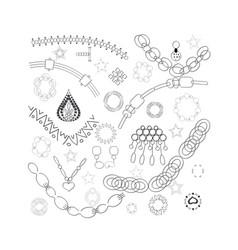 Black jewellery hand drawn vector