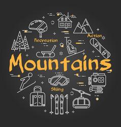 Black mountains concept vector