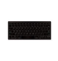 black realistic keyboard isolated on white vector image