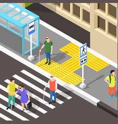 Blind crosswalk paving background vector