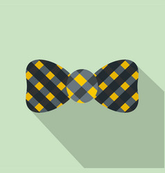 bow tie icon flat style vector image