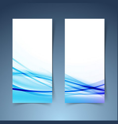 bright modern vertical banner set layout vector image