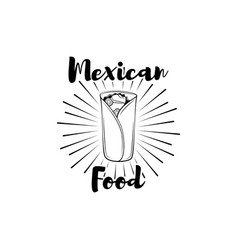 burito mexican food in beams vector image