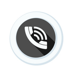 Call contact button vector