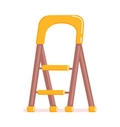 Cartoon stepladder isolated on white background vector