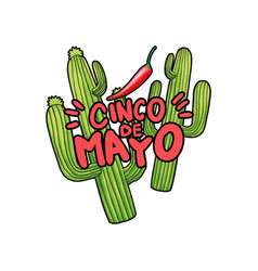 cinco de mayo hand drawn festive vector image