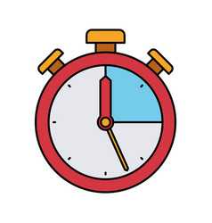 colorful silhouette of stopwatch icon vector image