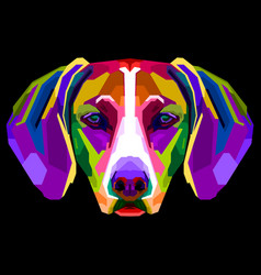 colorful vizsla dog on pop art style vector image